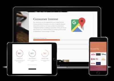 Matterport Wordpress Website Device Layout